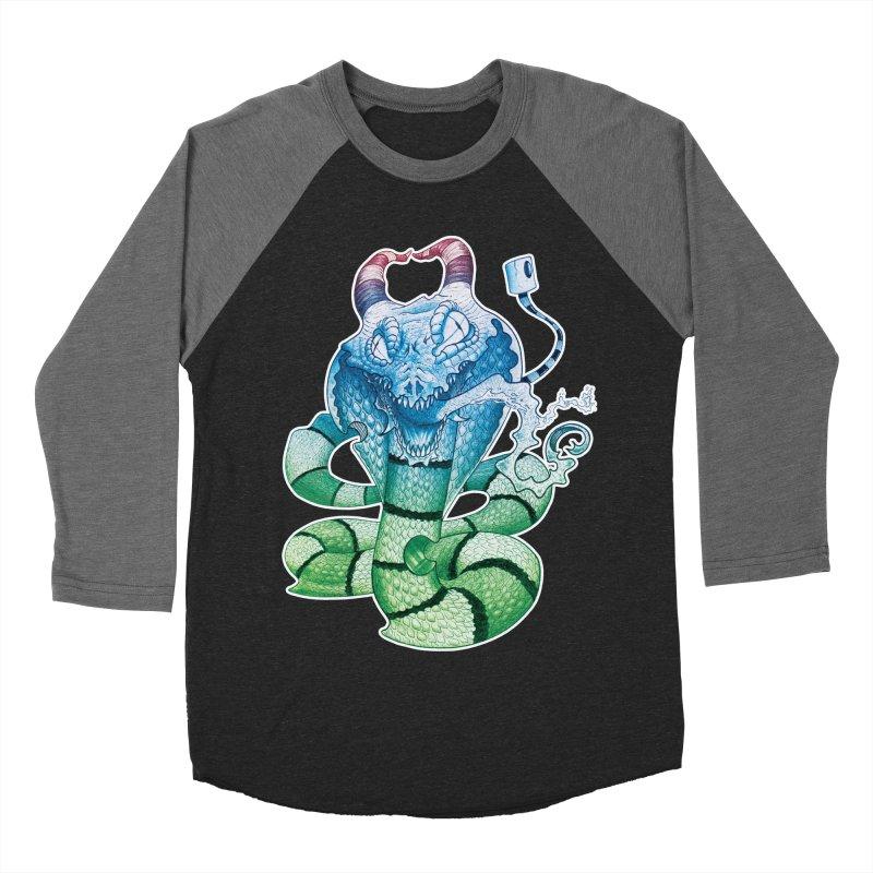 Demon Snake Men's Baseball Triblend T-Shirt by punchofpaint's Artist Shop