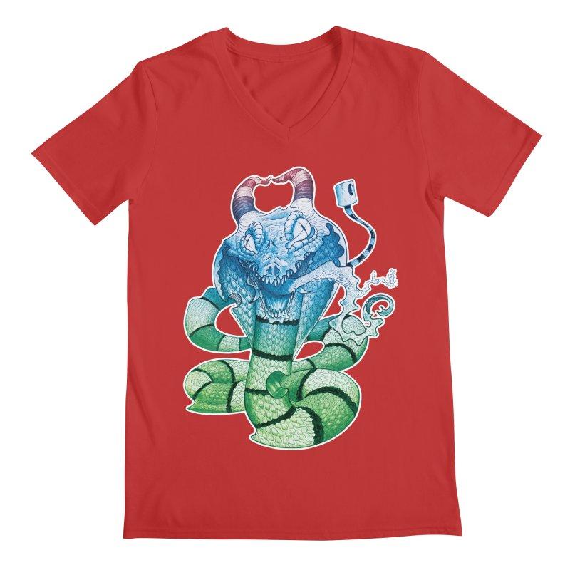 Demon Snake Men's V-Neck by punchofpaint's Artist Shop