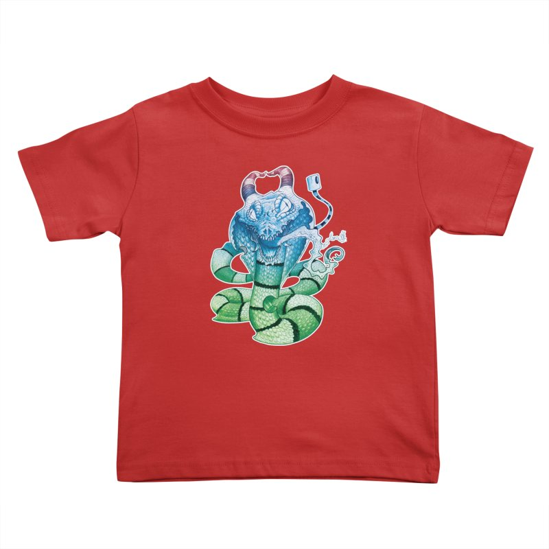 Demon Snake Kids Toddler T-Shirt by punchofpaint's Artist Shop