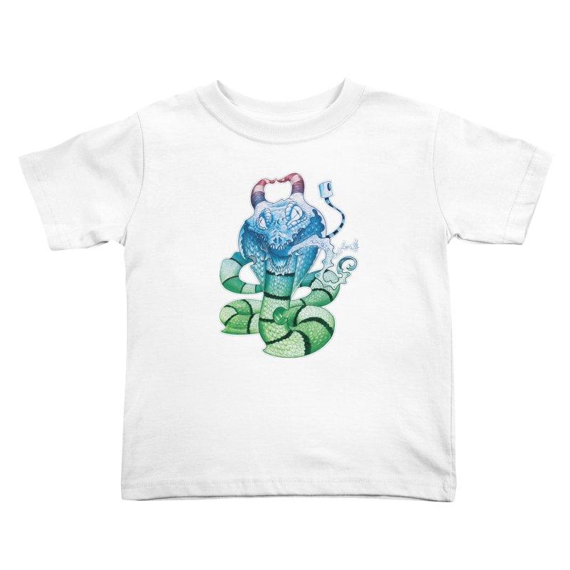 Demon Snake Kids Toddler T-Shirt by punchofpaint's Artist Shop