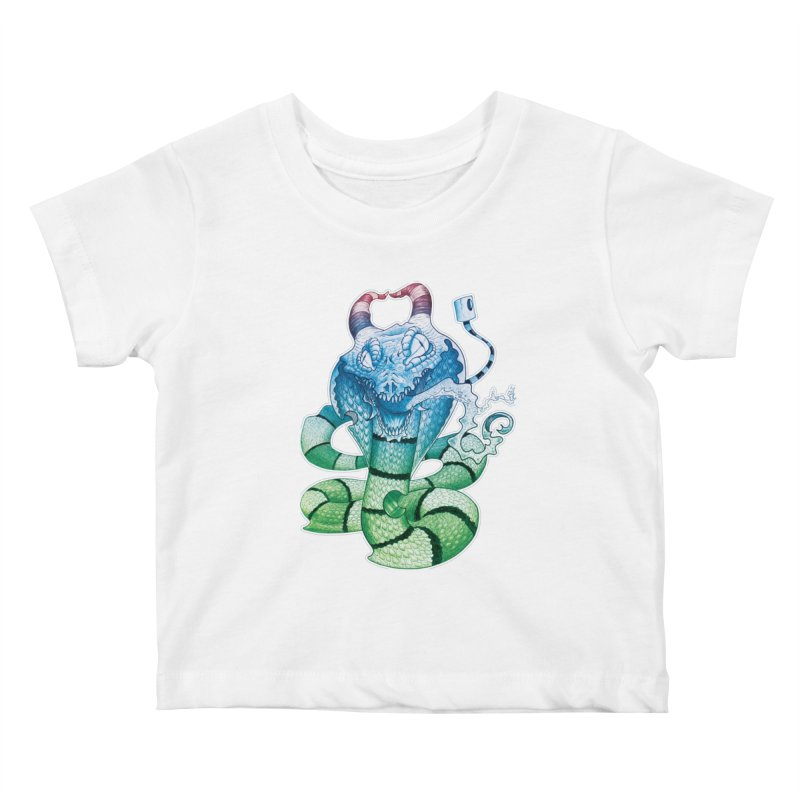 Demon Snake Kids Baby T-Shirt by punchofpaint's Artist Shop
