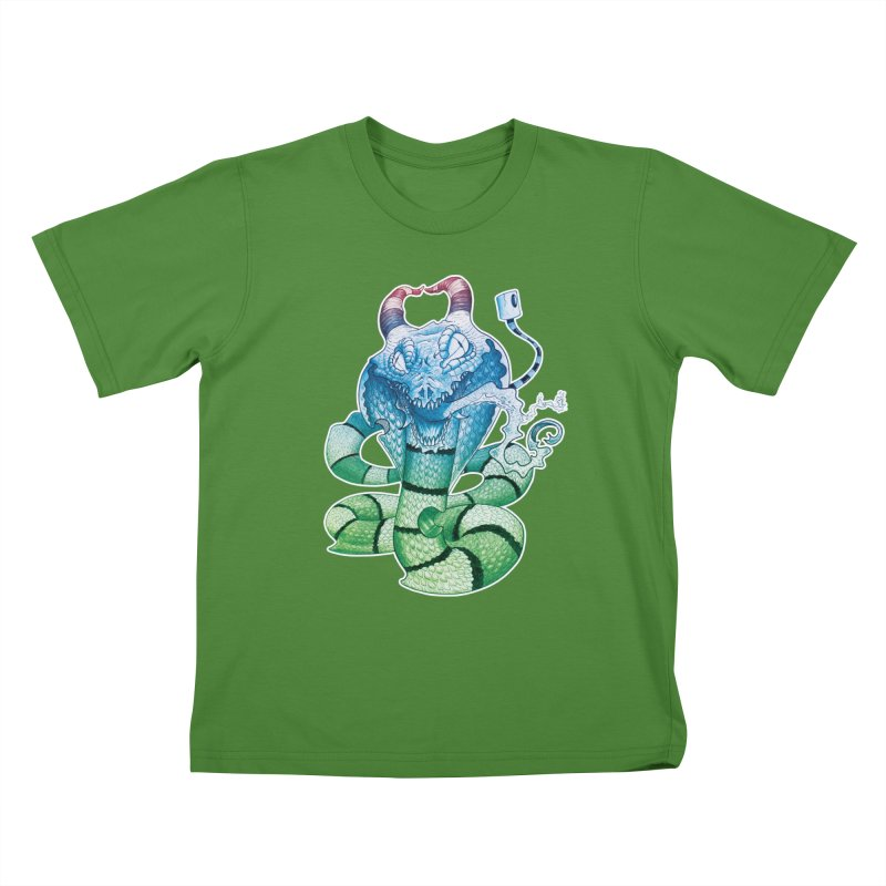 Demon Snake Kids T-shirt by punchofpaint's Artist Shop