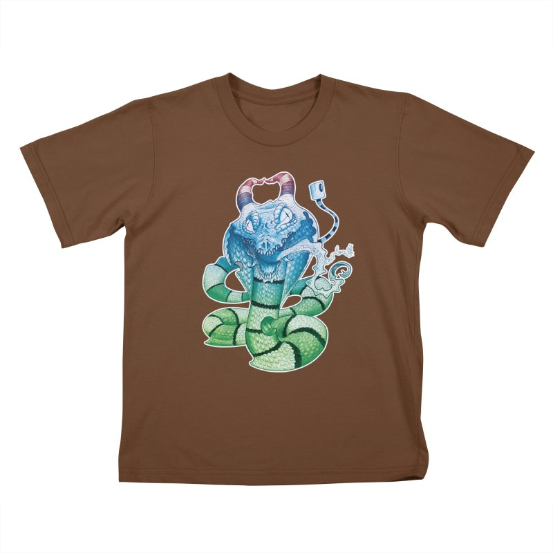 Demon Snake Kids T-Shirt by punchofpaint's Artist Shop