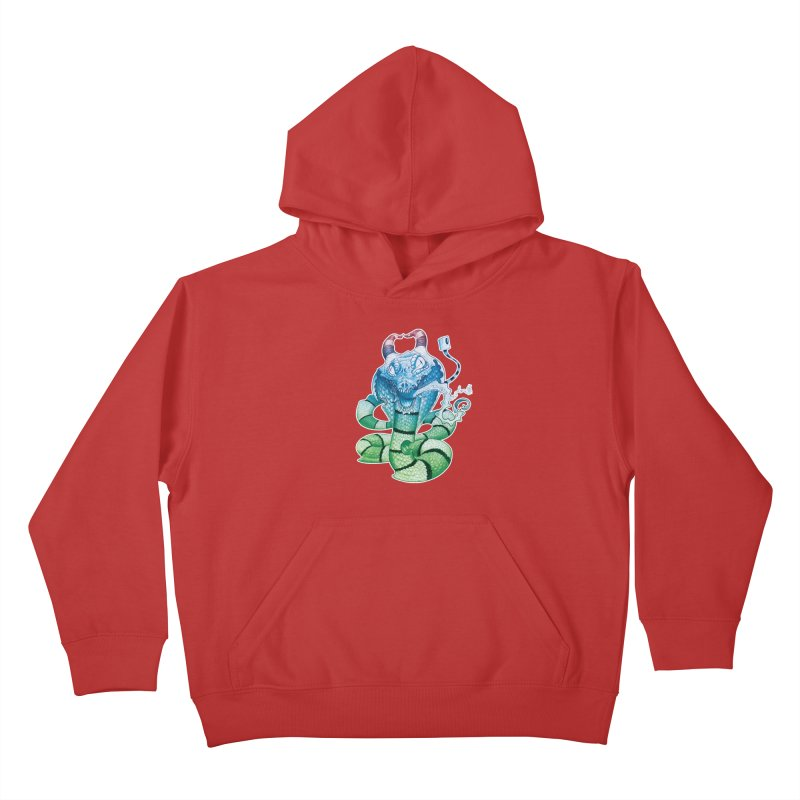 Demon Snake Kids Pullover Hoody by punchofpaint's Artist Shop