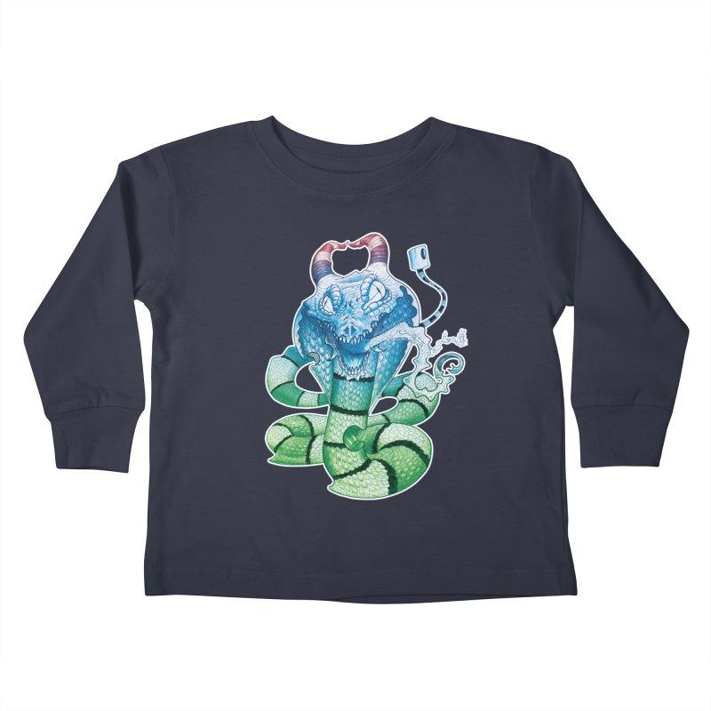 Demon Snake Kids Toddler Longsleeve T-Shirt by punchofpaint's Artist Shop