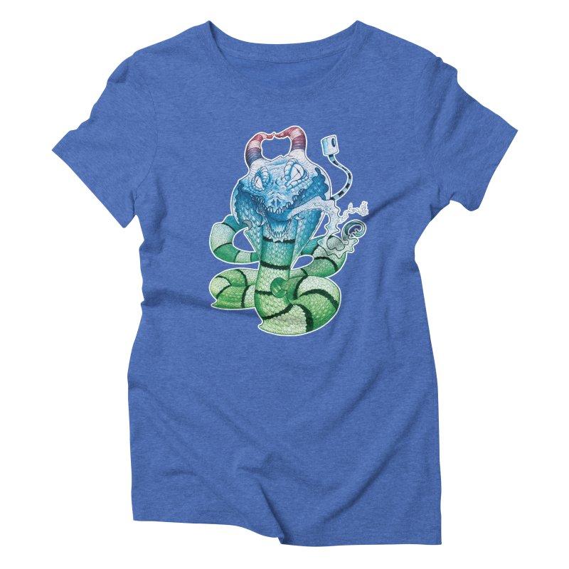 Demon Snake Women's Triblend T-Shirt by punchofpaint's Artist Shop