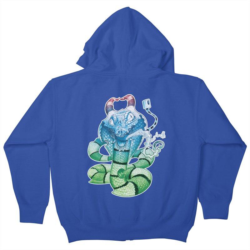 Demon Snake Kids Zip-Up Hoody by punchofpaint's Artist Shop