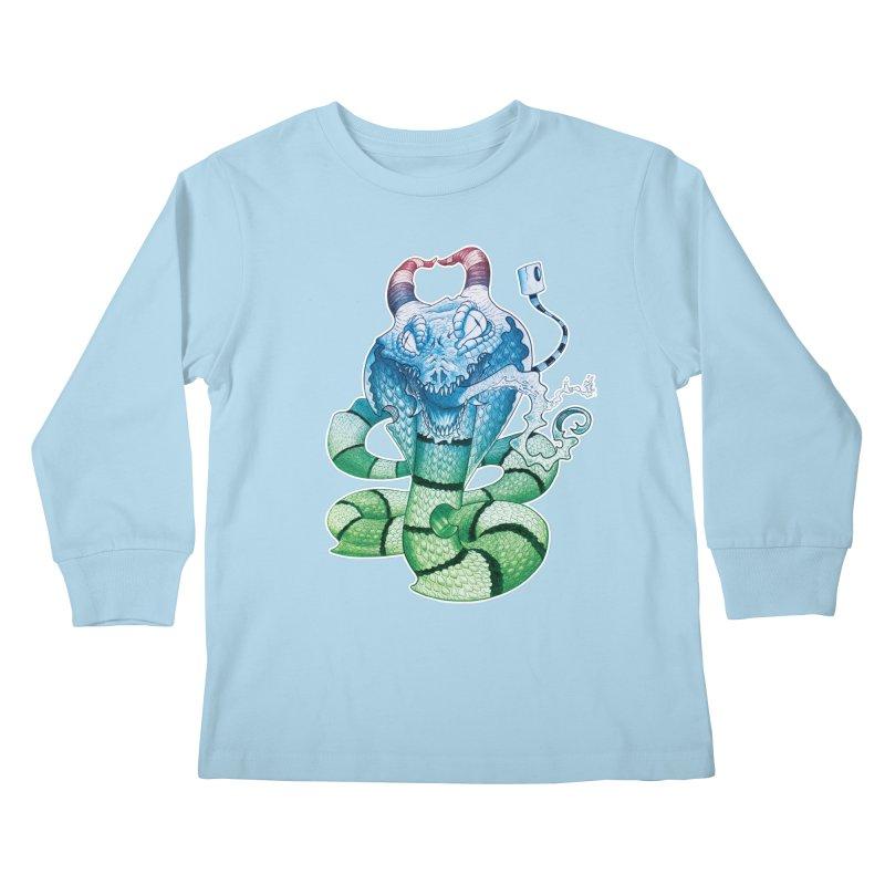 Demon Snake Kids Longsleeve T-Shirt by punchofpaint's Artist Shop