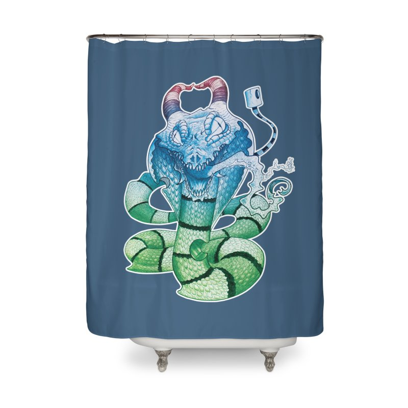 Demon Snake Home Shower Curtain by punchofpaint's Artist Shop