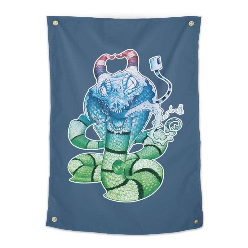 Demon Snake Home Tapestry by punchofpaint's Artist Shop