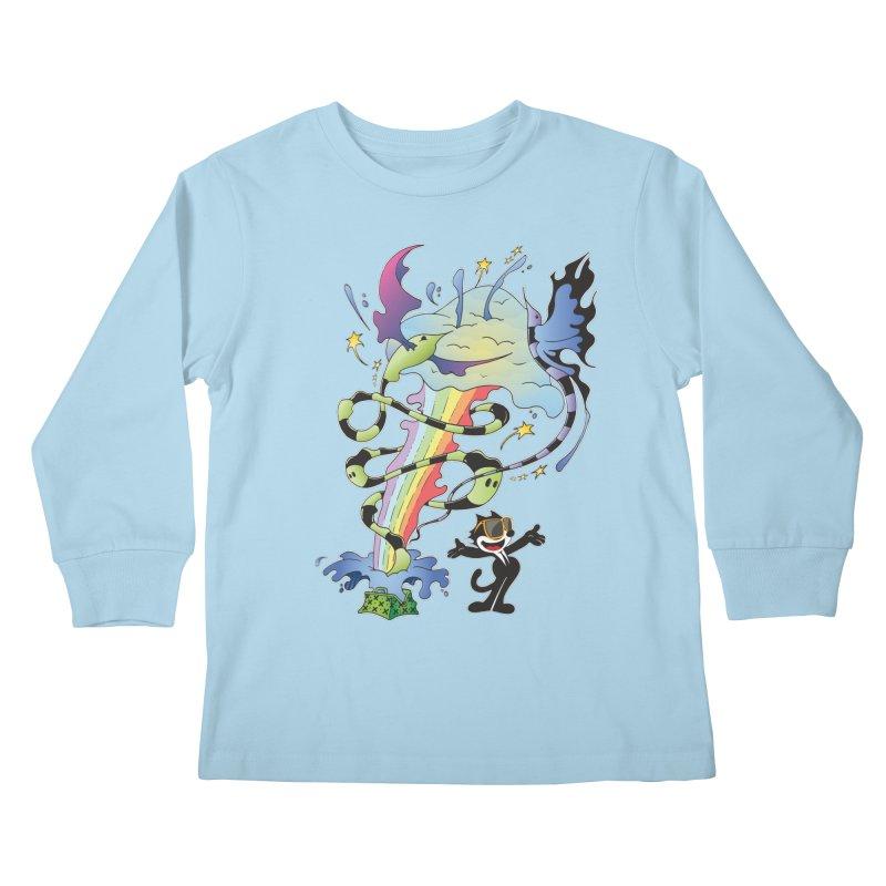 Little Green Bag Kids Longsleeve T-Shirt by punchofpaint's Artist Shop