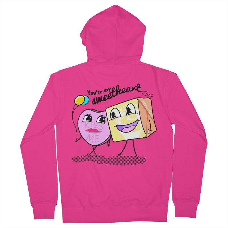 You're My Sweetheart Men's Zip-Up Hoody by punchofpaint's Artist Shop