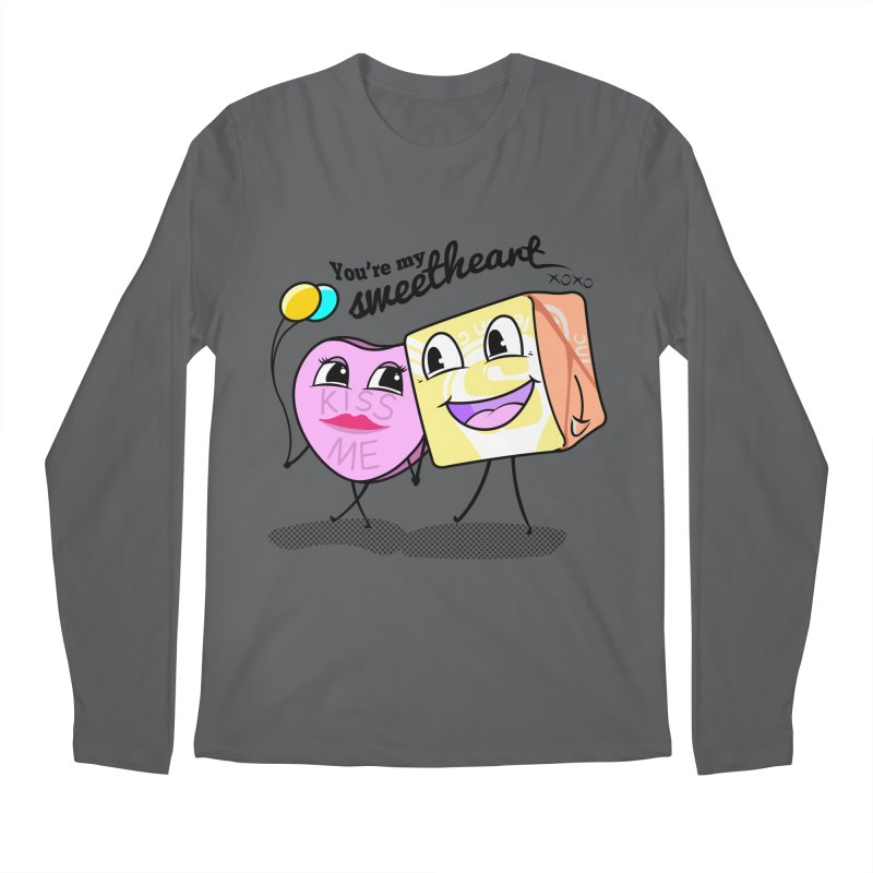 You're My Sweetheart Men's Longsleeve T-Shirt by punchofpaint's Artist Shop