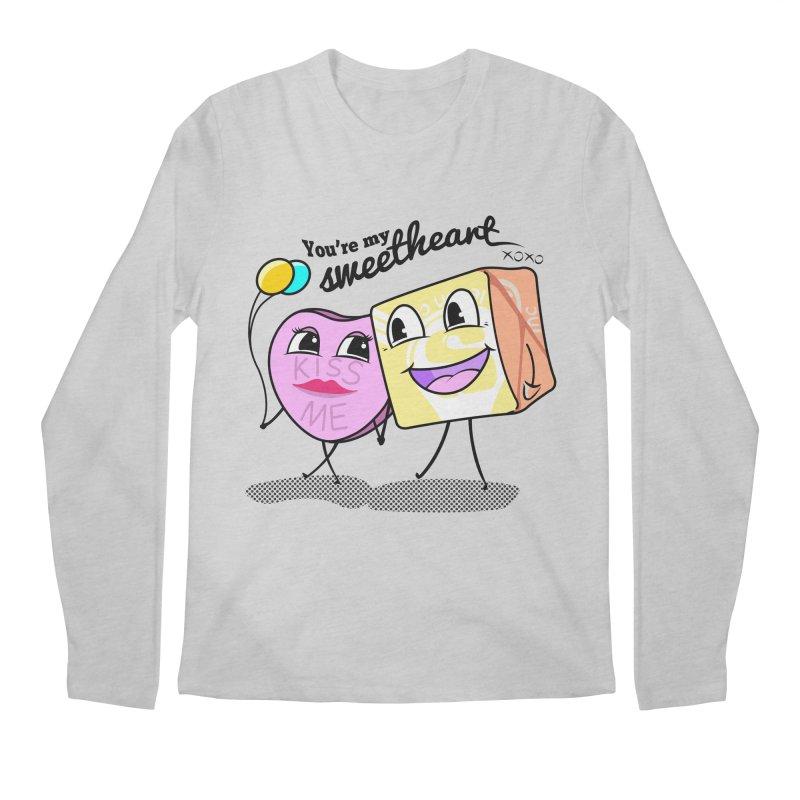 You're My Sweetheart Men's Longsleeve T-Shirt by punchofpaint's Artist Shop