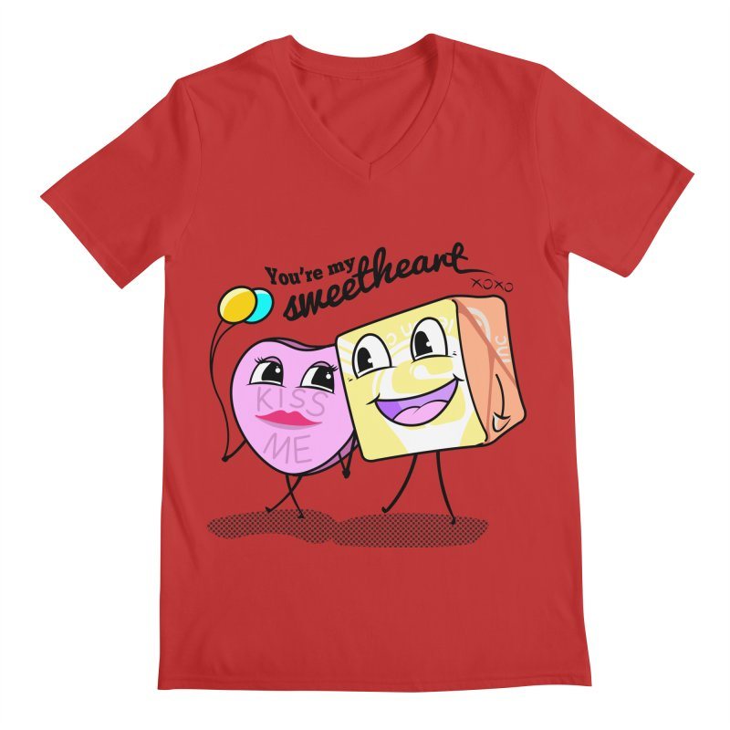 You're My Sweetheart Men's V-Neck by punchofpaint's Artist Shop