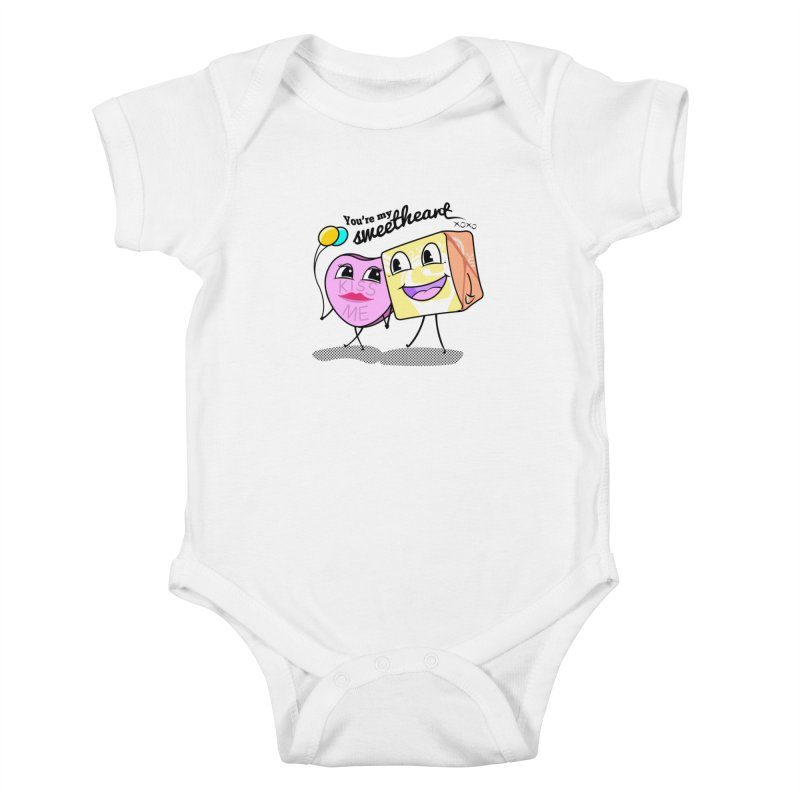 You're My Sweetheart Kids Baby Bodysuit by punchofpaint's Artist Shop