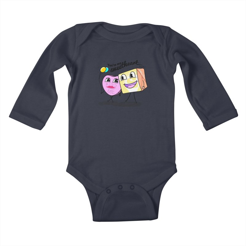 You're My Sweetheart Kids Baby Longsleeve Bodysuit by punchofpaint's Artist Shop