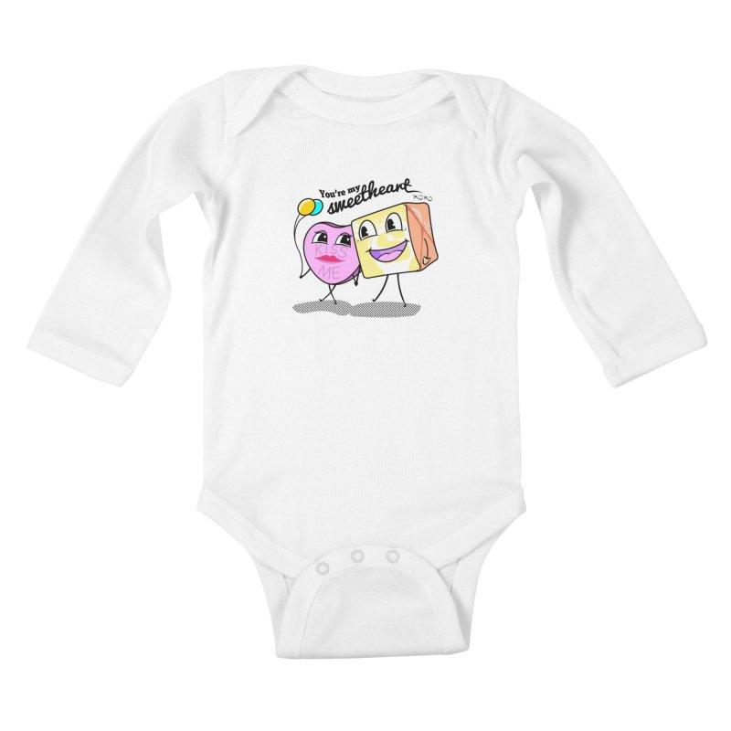 You're My Sweetheart Kids Baby Longsleeve Bodysuit by punchofpaint's Artist Shop