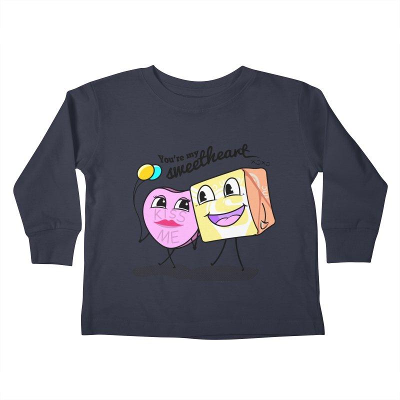 You're My Sweetheart Kids Toddler Longsleeve T-Shirt by punchofpaint's Artist Shop