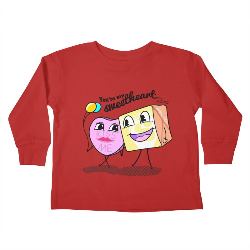 You're My Sweetheart Kids Toddler Longsleeve T-Shirt by punchofpaint's Artist Shop
