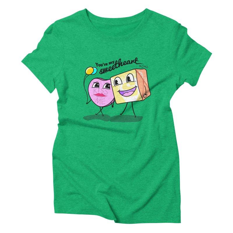 You're My Sweetheart Women's Triblend T-Shirt by punchofpaint's Artist Shop