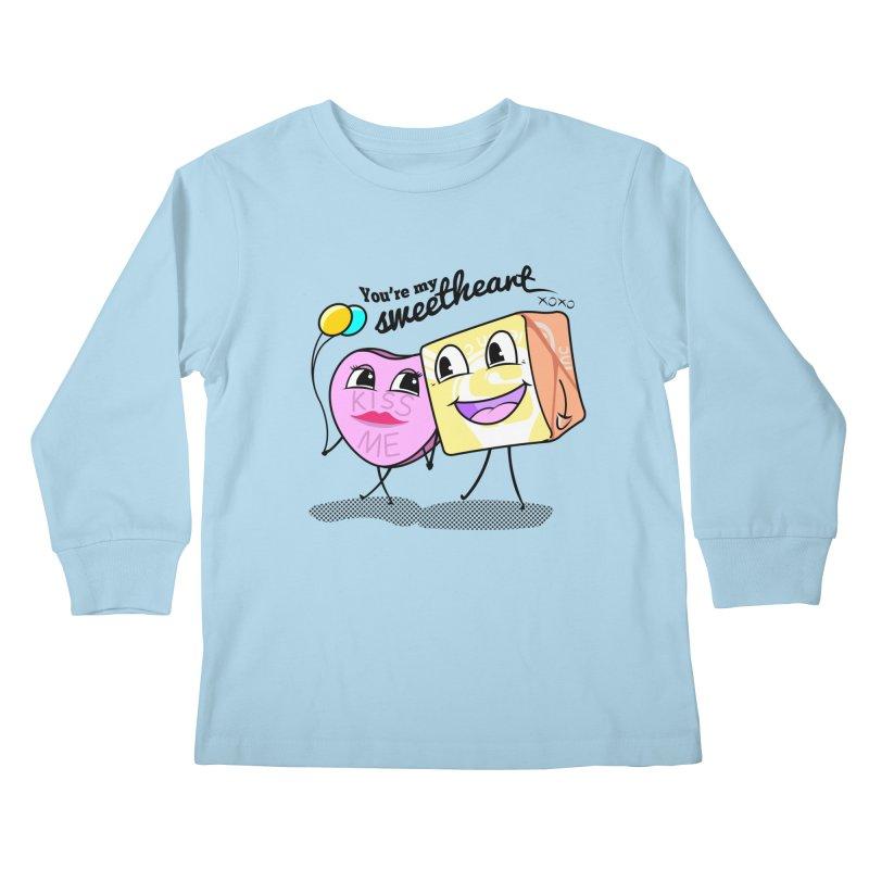 You're My Sweetheart Kids Longsleeve T-Shirt by punchofpaint's Artist Shop
