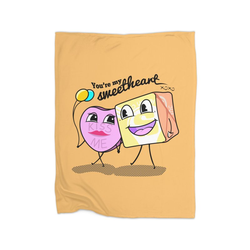 You're My Sweetheart Home Blanket by punchofpaint's Artist Shop