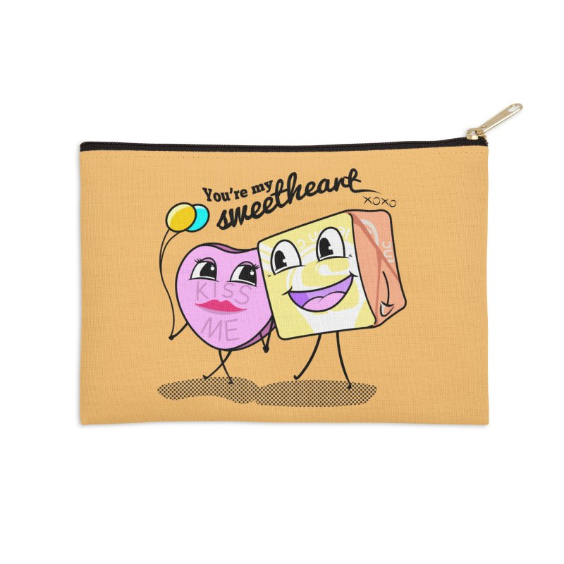 You're My Sweetheart Accessories Zip Pouch by punchofpaint's Artist Shop