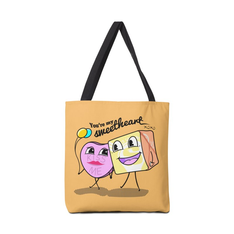 You're My Sweetheart Accessories Bag by punchofpaint's Artist Shop