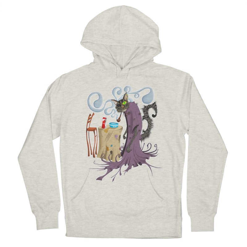 One Eyed Puss Women's Pullover Hoody by punchofpaint's Artist Shop