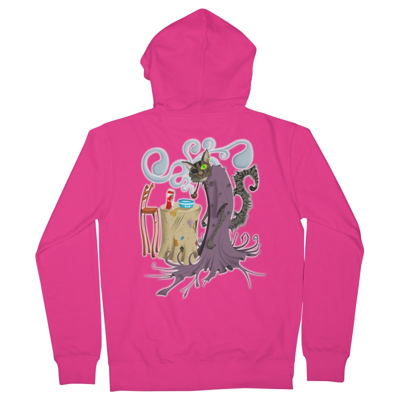 One Eyed Puss Men's Zip-Up Hoody by punchofpaint's Artist Shop