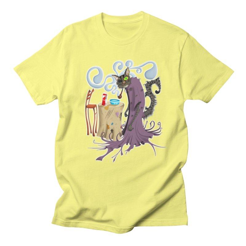 One Eyed Puss Men's T-shirt by punchofpaint's Artist Shop