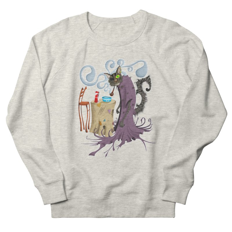 One Eyed Puss Women's Sweatshirt by punchofpaint's Artist Shop