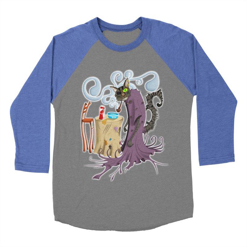 One Eyed Puss Women's Baseball Triblend T-Shirt by punchofpaint's Artist Shop