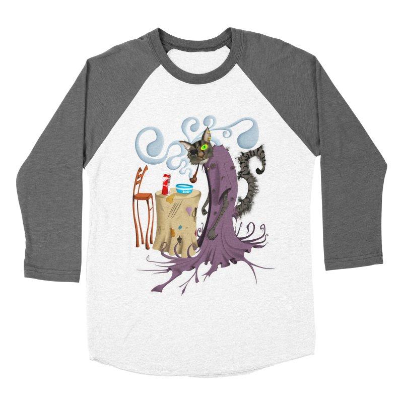 One Eyed Puss Men's Baseball Triblend T-Shirt by punchofpaint's Artist Shop