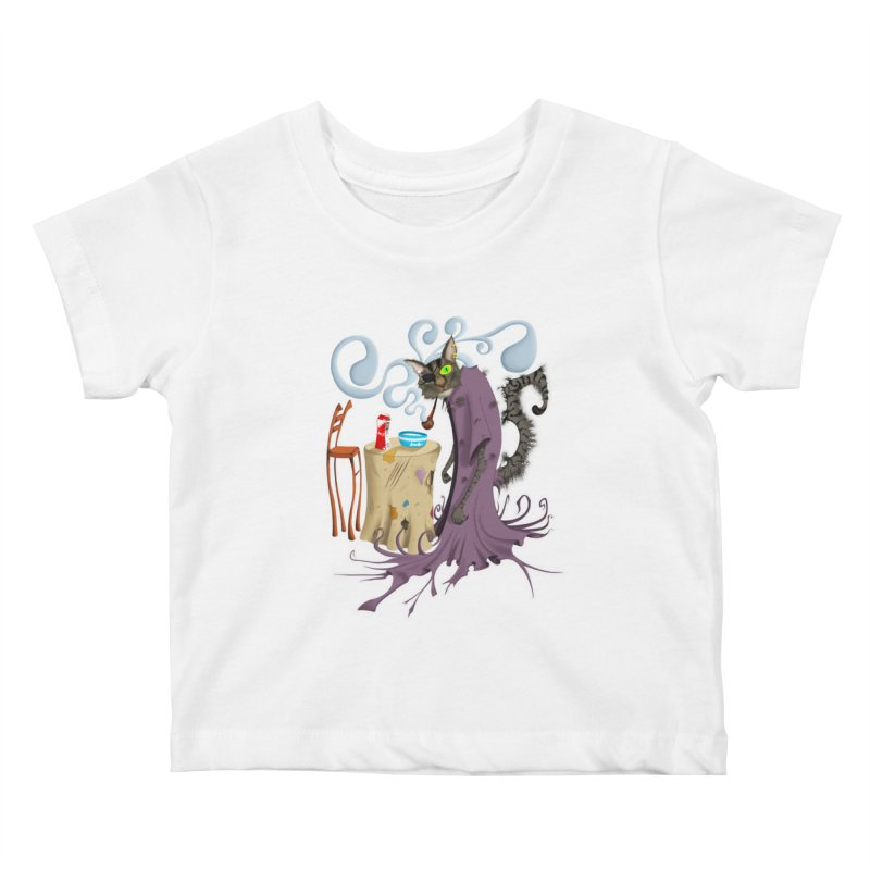One Eyed Puss Kids Baby T-Shirt by punchofpaint's Artist Shop