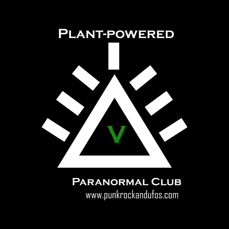 Plant-Powered Paranormal Club Men's Longsleeve T-Shirt by punkrockandufos's Artist Shop