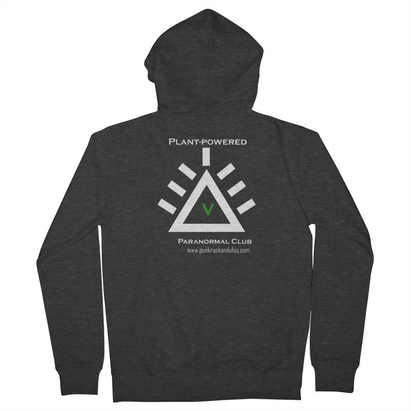 Plant-Powered Paranormal Club Women's French Terry Zip-Up Hoody by punkrockandufos's Artist Shop