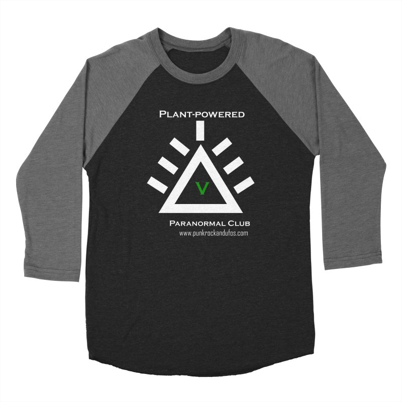 Plant-Powered Paranormal Club Men's Baseball Triblend Longsleeve T-Shirt by punkrockandufos's Artist Shop