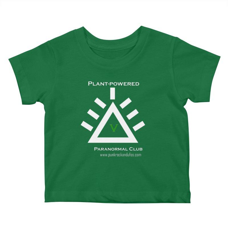Plant-Powered Paranormal Club Kids Baby T-Shirt by punkrockandufos's Artist Shop
