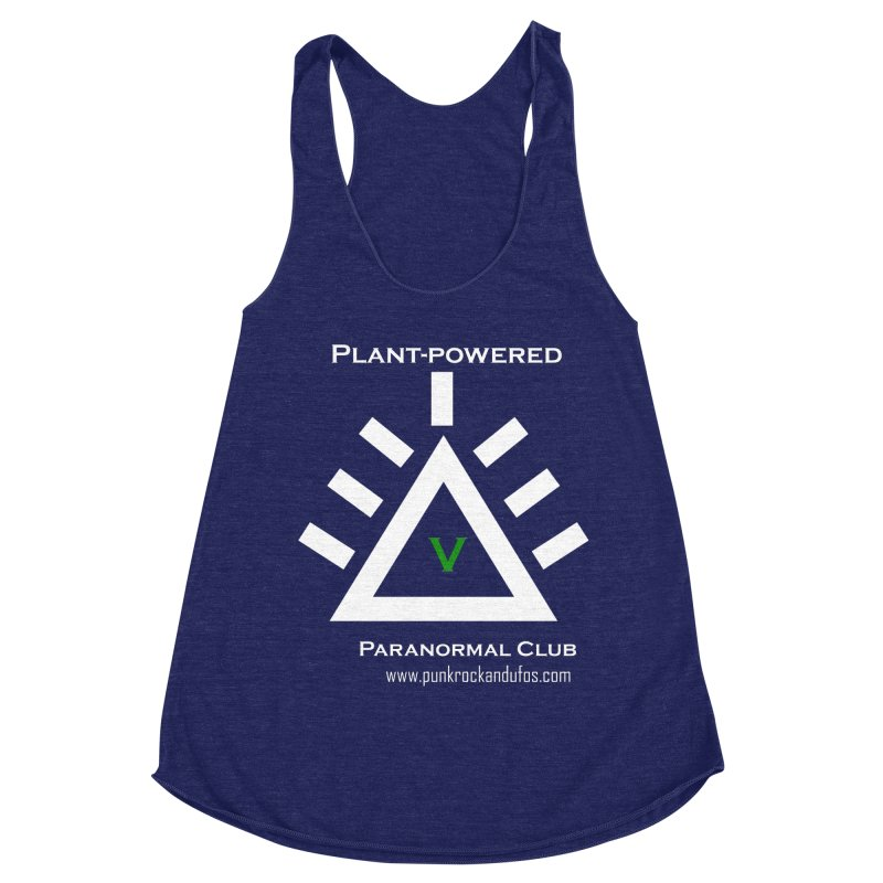 Plant-Powered Paranormal Club Women's Racerback Triblend Tank by punkrockandufos's Artist Shop