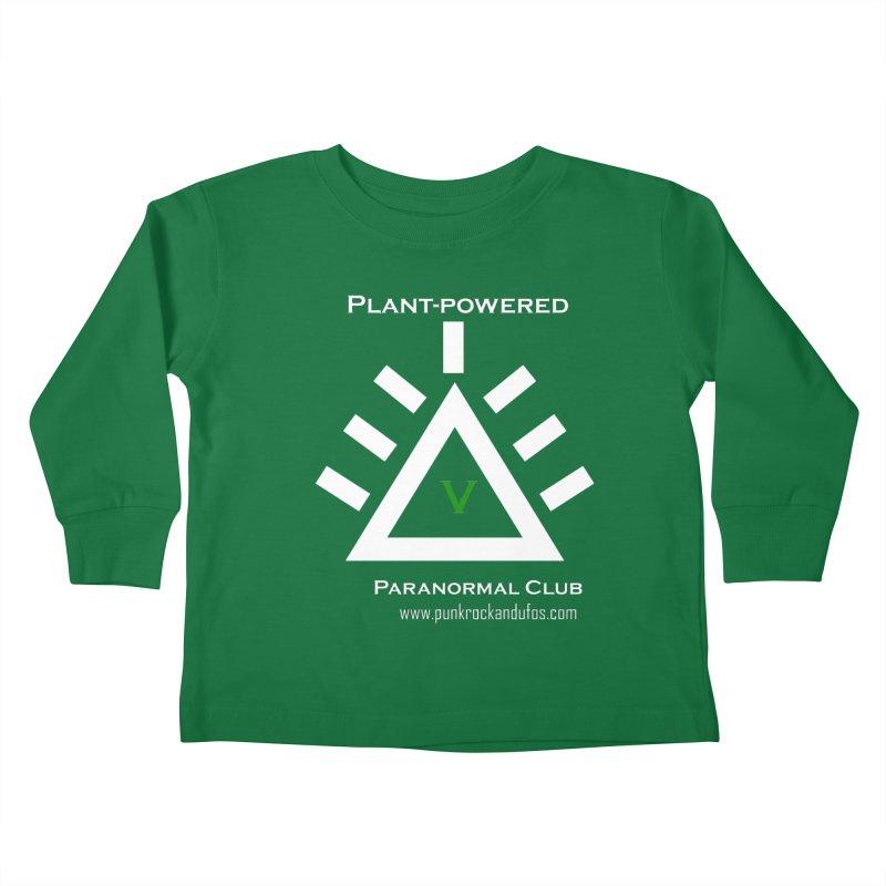 Plant-Powered Paranormal Club Kids Toddler Longsleeve T-Shirt by punkrockandufos's Artist Shop