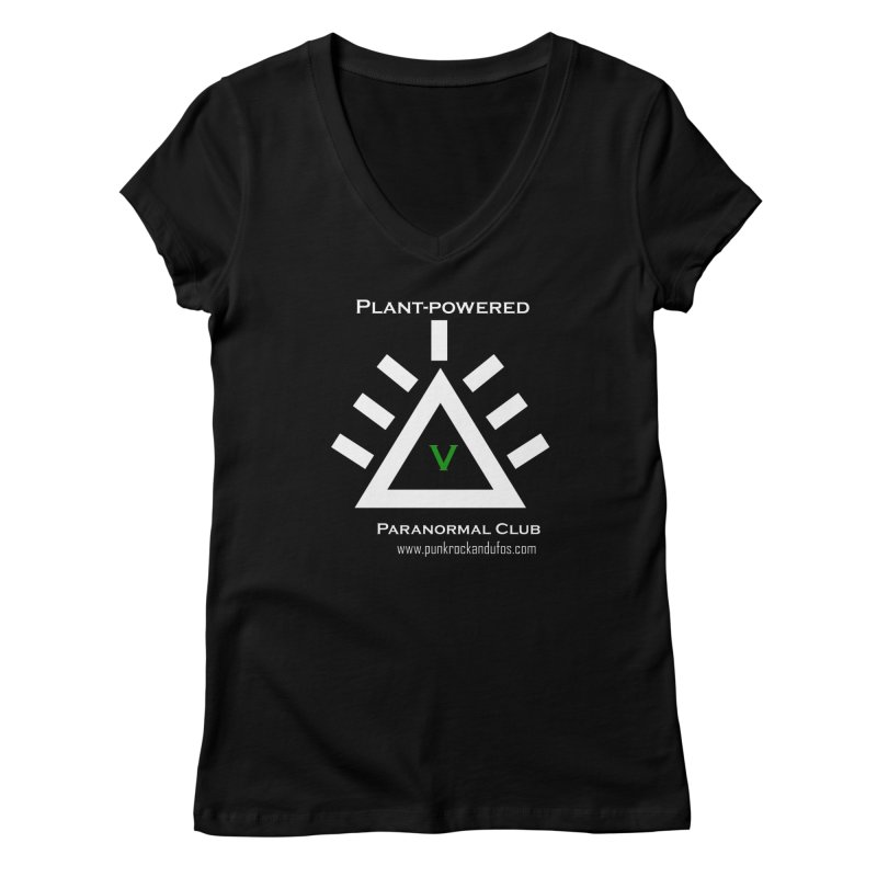 Plant-Powered Paranormal Club Women's V-Neck by punkrockandufos's Artist Shop