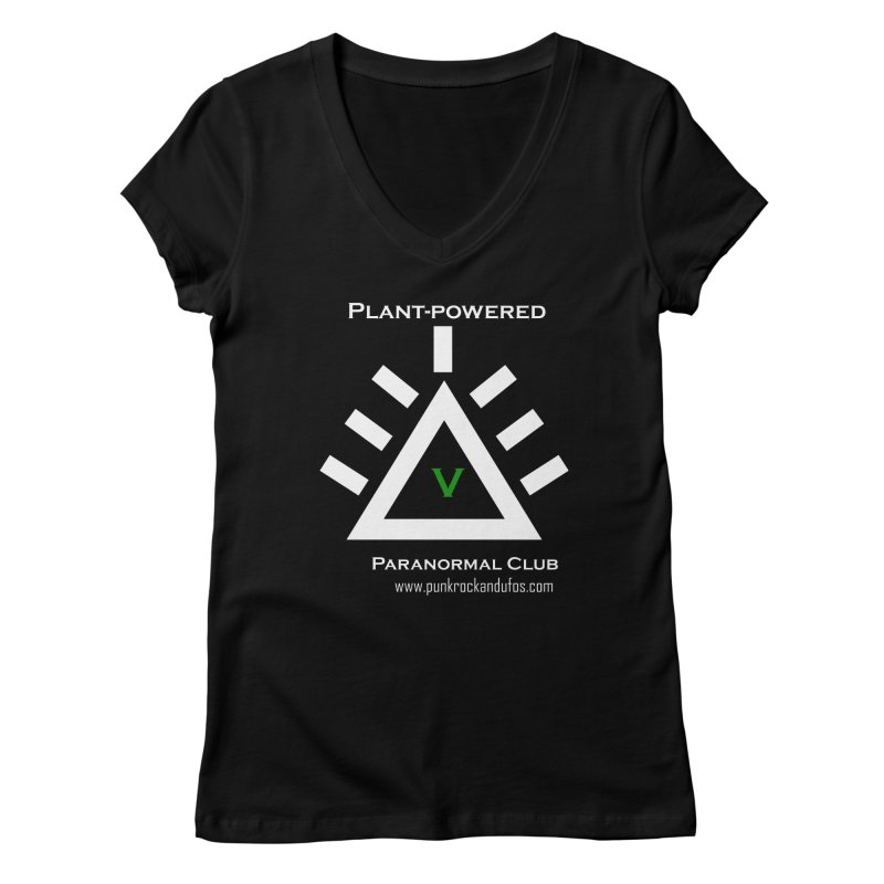 Plant-Powered Paranormal Club Women's V-Neck by punkrockandufos's Artist Shop