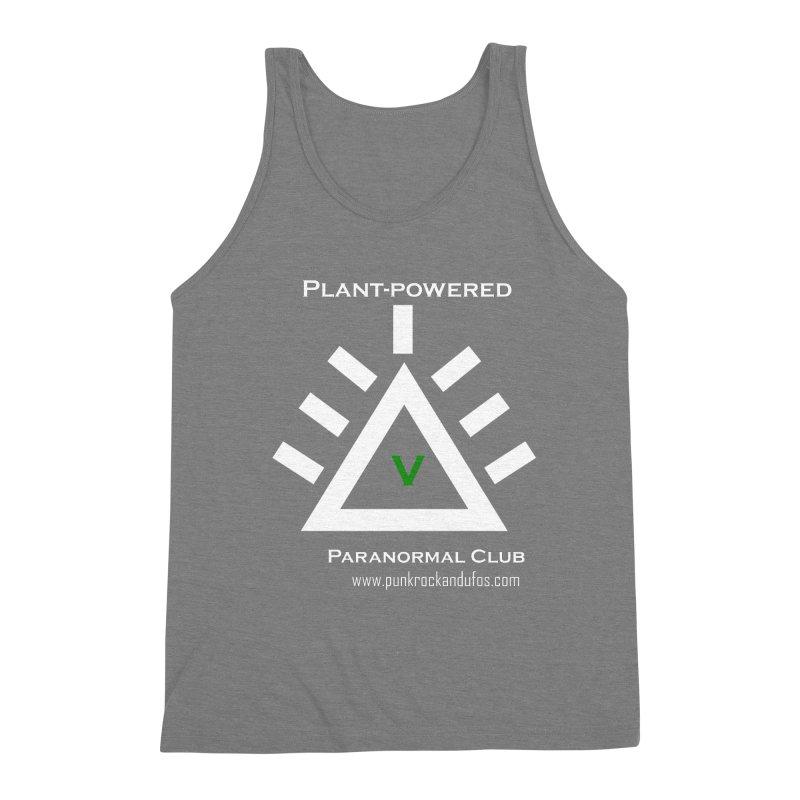 Plant-Powered Paranormal Club Men's Triblend Tank by punkrockandufos's Artist Shop