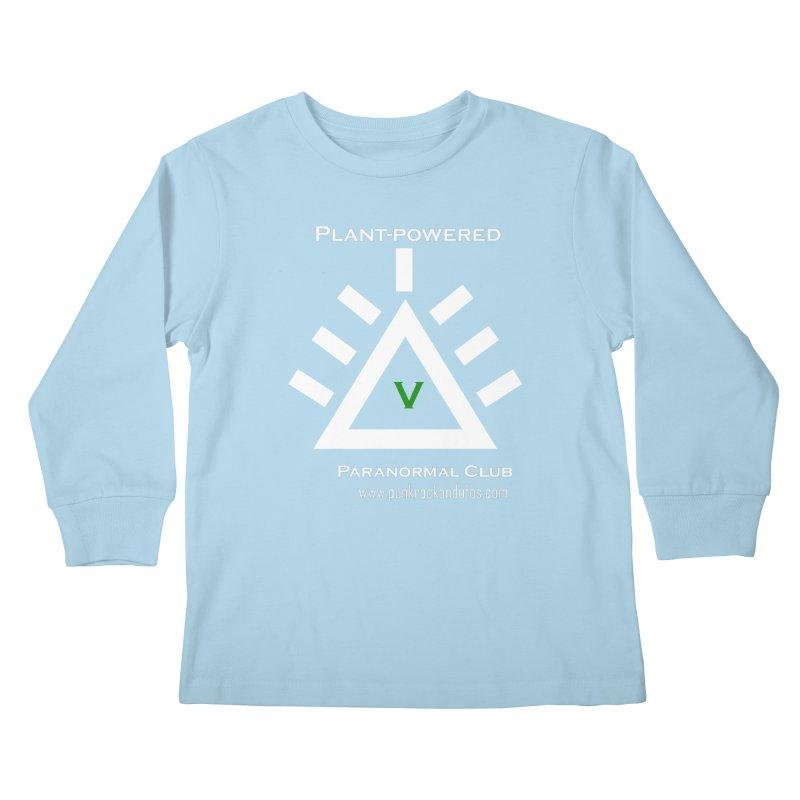 Plant-Powered Paranormal Club Kids Longsleeve T-Shirt by punkrockandufos's Artist Shop