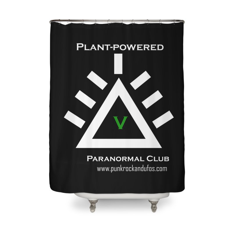 Plant-Powered Paranormal Club Home Shower Curtain by punkrockandufos's Artist Shop