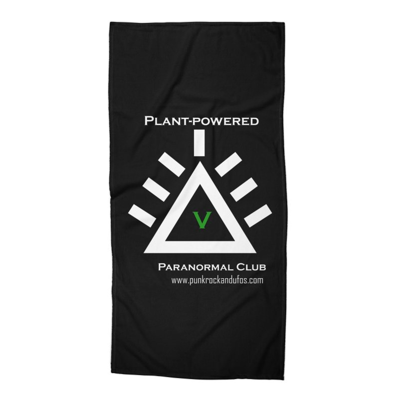 Plant-Powered Paranormal Club Accessories Beach Towel by punkrockandufos's Artist Shop