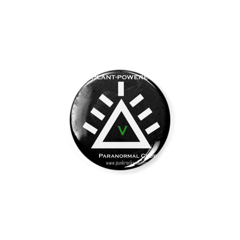 Plant-Powered Paranormal Club Accessories Button by punkrockandufos's Artist Shop