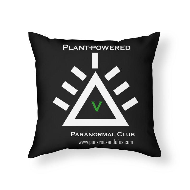 Plant-Powered Paranormal Club Home Throw Pillow by punkrockandufos's Artist Shop
